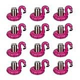 GIGLIO NERO Juego de 12 soportes inflables de PVC con flamencos, flotador, soporte para botellas, piscina, playa, 12 unidades