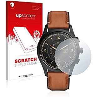 upscreen Scratch Shield Screen Protector Fossil Q Activist - HD-Clear, Anti-Fingerprint:Comoparardefumar