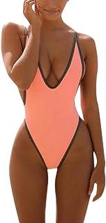 Bikinis Mujer,Dragon868 Nueva una Pieza de la Mujer V Cuello