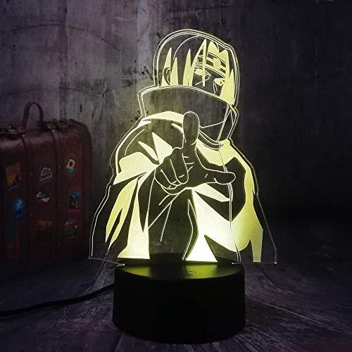 3d lampara de la noche Luz Nocturna Infantil Luz de ilusión 3D luz nocturna remoto para sala de estar, bar, regalo juguetes para niños y niñas Con interfaz USB, cambio de color colorido
