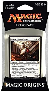 Magic the Gathering: MTG Magic Origins: Intro Pack / Theme Deck: Hixus, Prison Warden (includes 2 Booster Packs & Alternate Art Premium Rare Promo) White [並行輸入品]