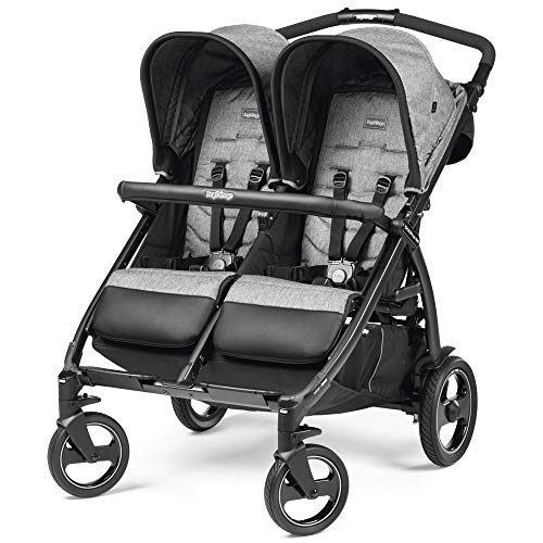 Peg Perego Book For Two, Passeggino Gemellare Compatto, Cinder, 14.12 kg
