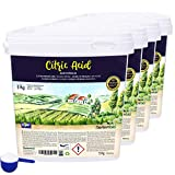 Nortembio Ácido Cítrico 4x5 Kg. Polvo Anhidro, 100% Puro. para Producción Ecológica. E-Book Incluido.