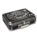 Crosley CR8005A-CBEU - Tocadiscos portátil de Tres velocidades, Color Negro