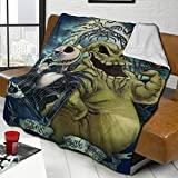 The Night-mare Before Christmas Oo-gie Boo-gie Lamb Wool Bed Blanket, Warm Fluffy King Size Comfort Mixed Throw Blanket Air-Conditioning Blanket for Living Room Dorm, 80x60 inch