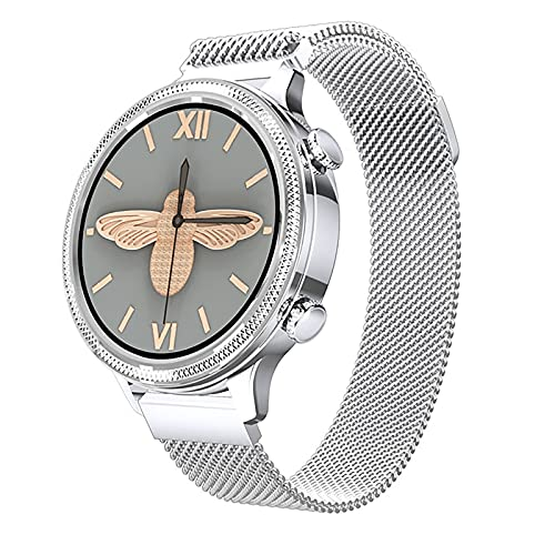 ZGZYL Smart Watch Women's Cardy Rate Monitor Sleep Monitor Bluetooth Smart Watch Women Fitness Bracelet's Smartwatch para iOS Android Teléfono,A