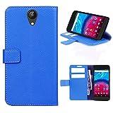 starz mobiles accessoires ARCHOS Core 50 - Tasche Gummi TPU Schutz Handytasche (Folio Blue)