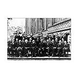 Leinwand Poster Schrodinger Pauli Heisenberg Born Bohr
