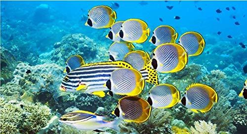Vissen in zee: 1000 delen houten puzzel, hoge kwaliteit en grote maten, een goed cadeau voor vrienden.