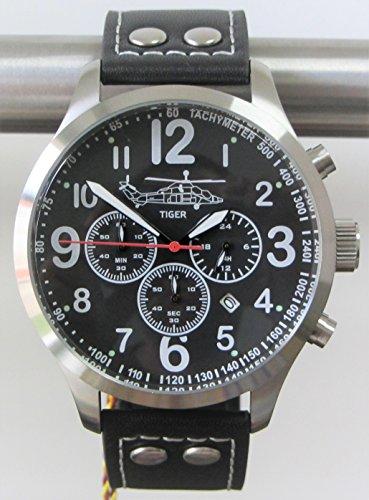 Reloj piloto IMC - Phantom - Reloj de pulsera de acero inoxidable con cronógrafo aviador - Edición especial