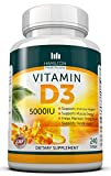Vitamin D3 5,000 IU 240 Premium Softgels by Hamilton Healthcare, All Natural, Effective and Safe Supplement That Supports Bone, Muscle, Breast, Prostate, Dental As Well As The Immune System