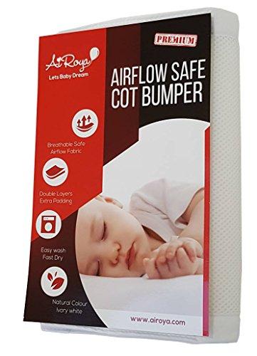 Airoya Bettumrandung Nest für Baby Kinderbett - atmungsaktives Babybett - in Weiß