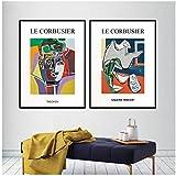 sjkkad Le Corbusier Leinwand Druckausstellung Klassisches