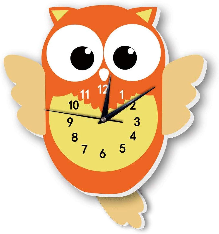 suministramos lo mejor Etiqueta Etiqueta Etiqueta de la parojo 3D creativo reloj de parojo búho sala de dibujos animaños mute reloj de parojo decorativo  bajo precio