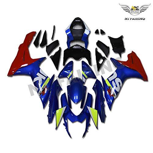 Fairing Blue Red Fit for SUZUKI 2011-2020 GSXR 600 750 Injection Mold ABS Plastics Aftermarket Bodywork Kit Set 2012 2013 2014 2015 2016 2017 2018 2019 GSX-R 600/750 YTL044