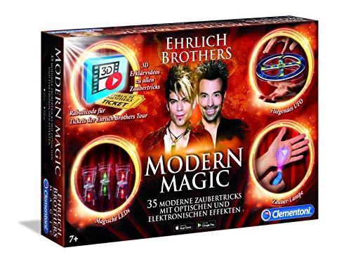 Clementoni 59050.6 Ehrlich Brothers Modern Magic, Zauberkasten für Kinder ab 7 Jahren, magisches Equipment für 35 moderne Zaubertricks, inkl. 3D Erklärvideos