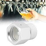 Wosune Adaptador de CO2, Adaptador de Cilindro de Aluminio para Tanques para regulador de Barril de Cerveza casera
