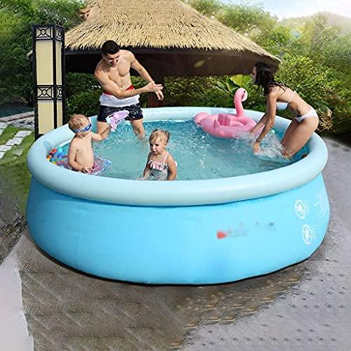 FLZXSQC Piscina para la familia niños y adultos – Piscina al aire libre sobre el suelo fácil de establecer piscina (tamaño: 183 x 56 cm)