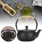 Bule de chá de ferro fundido, chaleira de ferro fundido de 0,6 L, vintage, imitando estilo japonês, sem revestimento, decoração de presente para casa, casa de chá