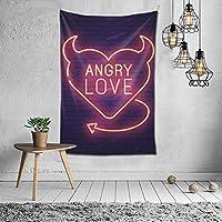 Vensaths Angry love タペストリー 壁掛け インテリア 多機能壁掛け ファブリック装飾用品 模様替え 部屋 窓カーテン 個性ギフト 新居祝い 152cmx102cm