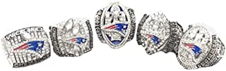 PATRIOTS 5PC OFFICIAL DESIGN SUPER BOWL REPLICA RING SET SIZE 11 W/BOX