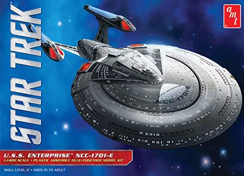 AMT AMT853 1/1400 Star Trek USS Enterprise 1701-E Plastikmodellbausatz, Modelleisenbahnzubehör, Hobby, Modellbau, Mehrfarbig