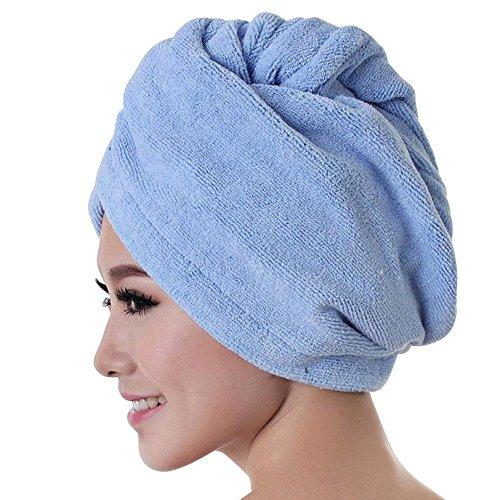 IMJONO Cheveux Serviette Microfibre Twist Cheveux Turban Wrap Super Absorbant du Séchage Rapide Pac Hair Towel Baignoire Serviette Cheveux Sec Chapeau Séchage Rapide Lady Bath Tool(B