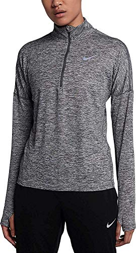 Nike Womens Dry Element Running Top-Carbon Heather Size Small