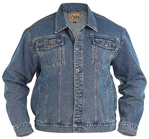 Grande King Size Da Uomo Jeans Giacca Duke Stile Camionista London Western Slavati Cappotto - Slavato, XX-Large