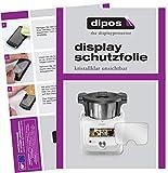 dipos I Schutzfolie kompatibel mit SilverCrest Monsieur Cuisine Connect Displayschutz-Folie klar