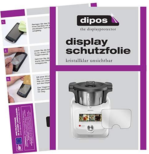 dipos I 2X Protector de Pantalla Compatible con SilverCrest Monsieur Cuisine Connect pelicula Protectora Claro