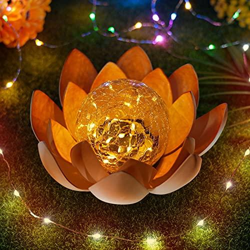 Demiawaking Lotus LED Solarleuchte, schwimmende Blume Nachtlampe Gartenleuchte Solar, Deko Lampe für Schwimmbad Garten Aquarium Hochzeit Hof, Teich Beleuchtung
