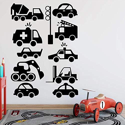 Calcomanías de pared para vehículos de ingeniería, decoración del hogar, calcomanías de vinilo para pared, habitación para niños, dormitorio para niños, aula, decoración para sala de estar