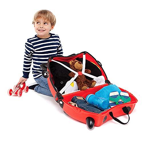 Trunki Trolley Kinderkoffer, Handgepäck für Kinder: Harley Marienkäfer (Rot) - 3