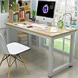 44' Laptop Computer Desk PC Table Wood Workstation Study Writing Gaming Bench Home Office Furniture
