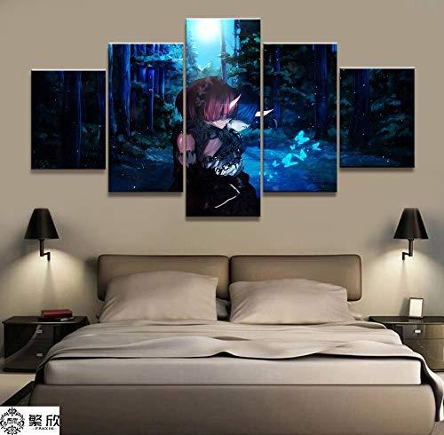 Impression sur toile Art mural photo YÉtiré et encadré Photos d'œuvres d'art PhotoReLife dans un monde différent de l'animation Impression sur toile Peinture pour salon Art mural Accueil Photo 2