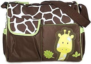 حقيبة كتف متعددة الاستخدامات بتصميم رسوم حيوانات متحركة مناسبة للامهات لحمل حفاضات الأطفال