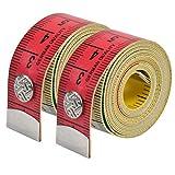 2 Pzs Cinta Métrica Suave Cinta Metrica Costura de Doble Cara Flexible Cinta de Costura para Costura de Tela Cintura Sujetador Cuerpo Circunferencia Cabeza Sastre, 150 cm/60 Pulgadas