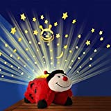 Pillow Pets Dream Lights Ms Lady Bug Red