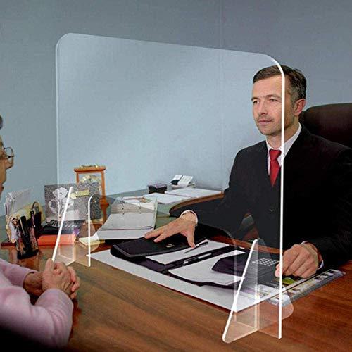 Práctico Protector contra estornudos Profesional, Protector de plexiglás acrílico Transparente para Ventanas de transacciones de contadores (Ventana Triangular 60x 60 cm) -80 * 60 CM