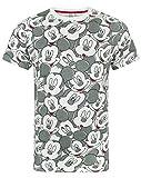 Disney Mickey Mouse T-Shirt para Hombre Animado Personaje Orejas Traje Top XL