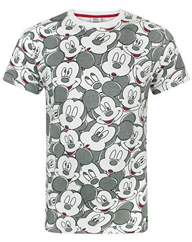 Disney Mickey Mouse T-Shirt para Hombre Animado Personaje Orejas Traje Top S