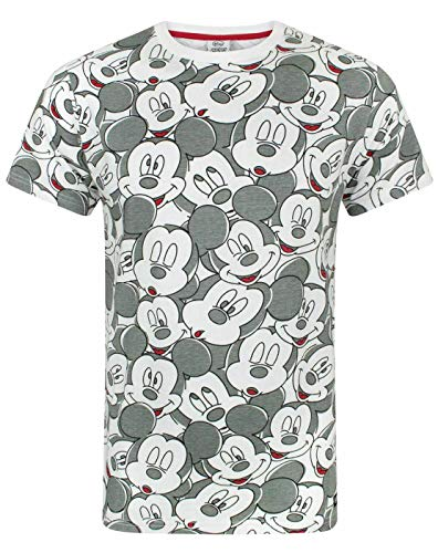 Mickey Mouse Disney Face All Over Print Camiseta Hombre