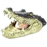 Hotaden falsa cabeza del cocodrilo de simulación impermeable cocodrilo con la boca abierta cabeza