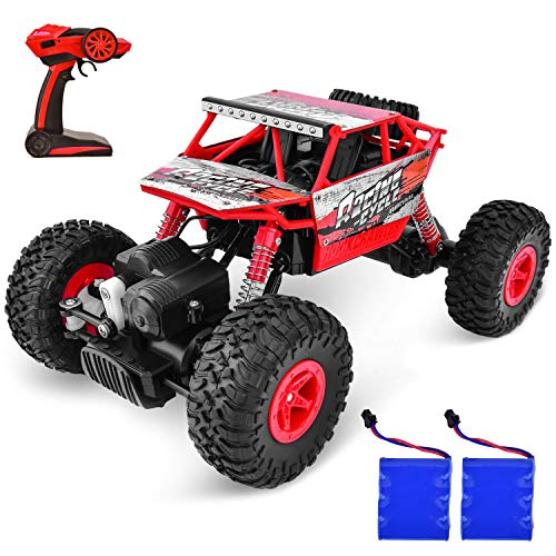 Flywind Offroad RC Cars for Kids Adult Boys, Powerful Remote Control Car with Rechargeable Battery Electric RC Vehicle Offroad RC Truck for Adult Kids Boys, Red