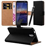 iCatchy For Nokia 3.1 Case, Leather Wallet Flip Book Stand