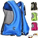Khroom® Chaleco Salvavidas Inflable - Pesa Solo 400 Gramos - Ayuda a la flotabilidad para Snorkel, Kayak y Sup - para Adultos (Azul)