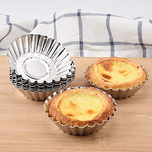 32PCS Aluminum Cupcake Cake Cookie Lined Mold Mould Tin Baking Tool Hot, Cake Mould, Home & Garden (Silver)