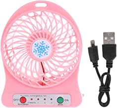YAOHEHUA Draagbare LED Licht Mini Fan Luchtkoeler Mini Bureau USB Fan Derde Wind USB Fan Oplaadbare ABS Draagbare Kantoor ...