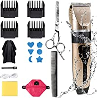 Innoo Tech Professional Hair Clippers for Men Kids, Hair Trimmer Kits Set Cordless USB Rechargeable Five Speed...